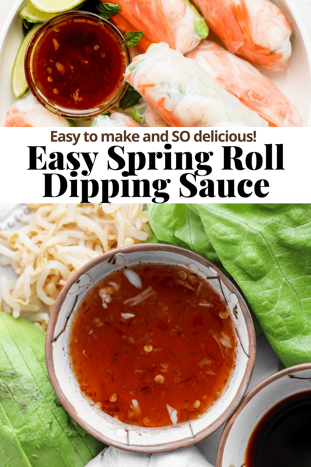 Pinterest image for spring roll dipping sauce.