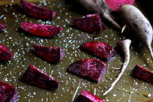 Roasted Beets with Salt and Honey