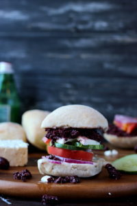 Greek Salad Sandwich with Kalamata Olive Tapenade and Greek Aiolii thewoodenskillet.com #sandwich #meatless
