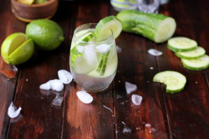 Cucumber Vodka Water - thewoodenskillet.com #cocktail