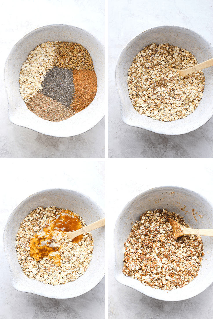 Healthy Homemade Granola -comfort food at its finest, yet packs powerful nutritional value. The perfect way start your day or an afternoon (midnight) snack. (DF + Gluten-Free Friendly) #homemadegranola #healthyhomemadegranola #howtomakegranola #granolarecipes