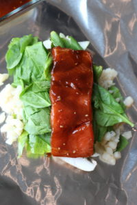 Miso Salmon in Foil with Miso Mayo
