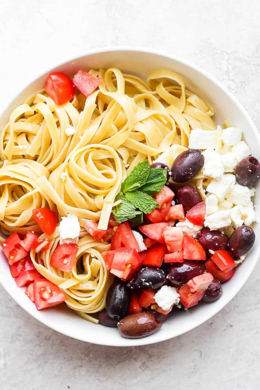 Bowl of Greek Pasta.