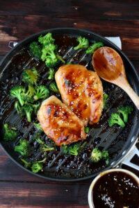 Easy Weeknight Teriyaki Chicken + Broccoli - thewoodenskillet.com