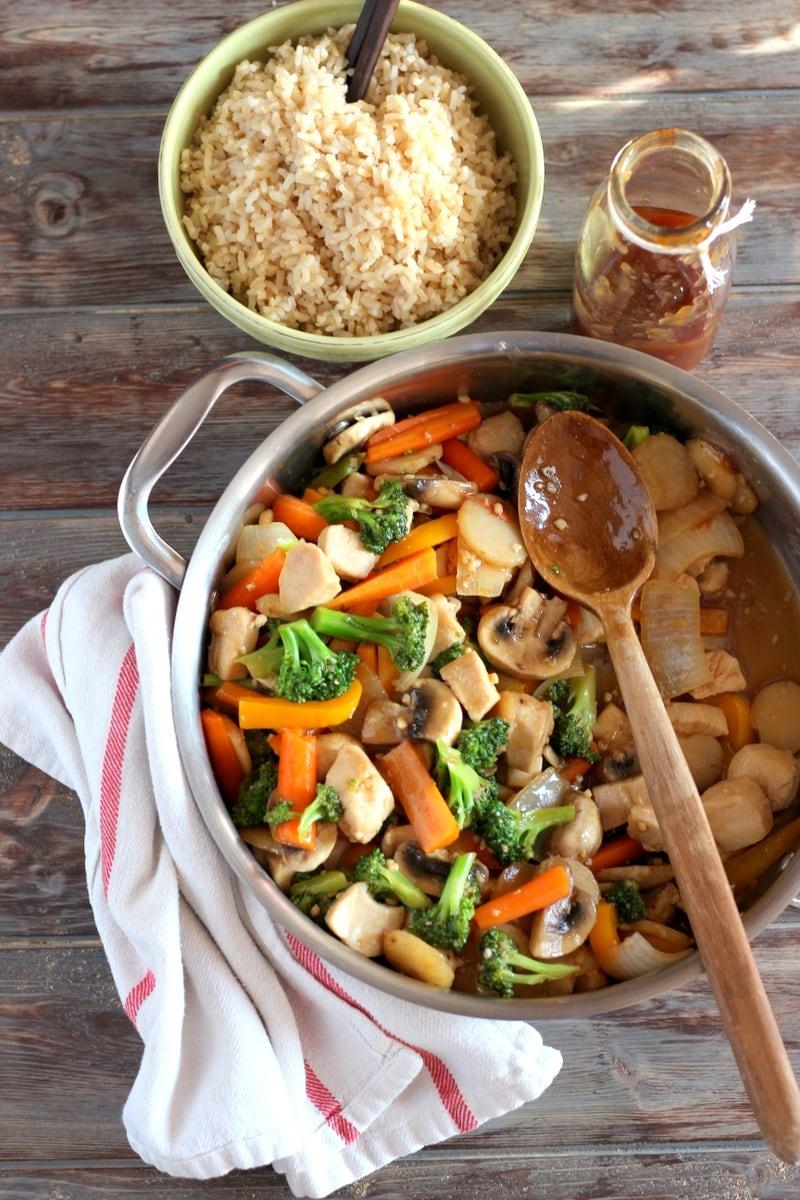 Healthy Chicken Teriyaki Stir-Fry