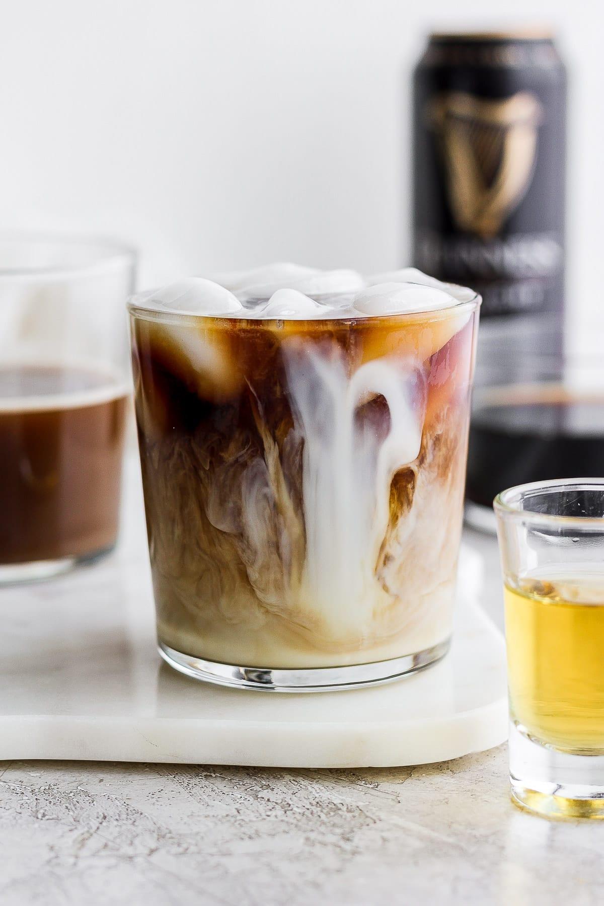 A glass of Irish Cold Brew Coffee.