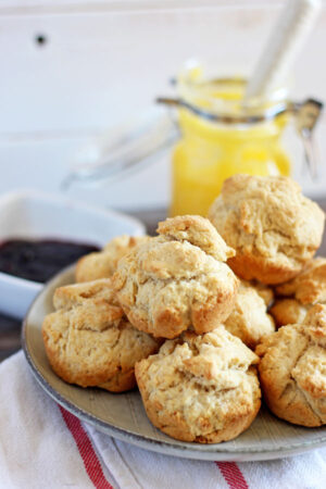 Ghee Breakfast Biscuits + Grape Preserve - a great ghee recipe that is perfect for breakfast or brunch! thewoodenskillet.com