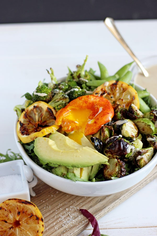 Healthy Spring Green Salad + Turmeric Egg