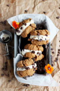 Dairy Free Almond Butter Cookie Ice Cream Sandwiches - the perfect summer treat! - thewoodenskillet.com