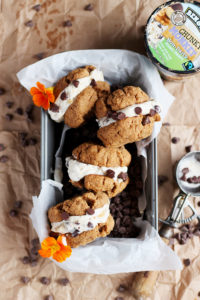 Dairy Free Almond Butter Cookie Ice Cream Sandwiches - a delicious summer dessert that is dairy free! thewoodenskillet.com