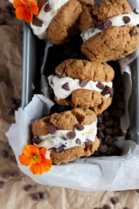 Dairy Free Almond Butter Cookie Ice Cream Sandwiches - a delicious summer dessert that is dairy free!