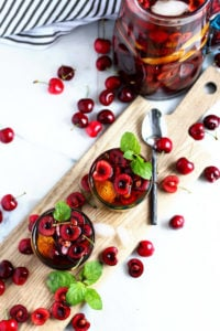 Infused Black Tea + Sweet Honey Whiskey - the perfect summer cocktail! thewoodenskillet.com