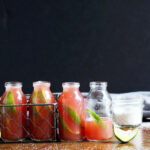 Guava Lime Kombucha Shooters - the perfect summer cocktail! thewoodenskillet.com