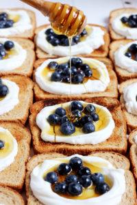 Simple Yogurt Breakfast Toast + Flax and Honey - thewoodenskillet.com