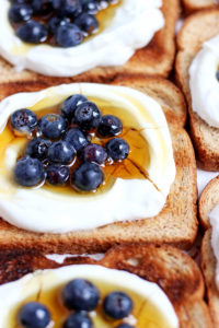 Simple Yogurt Breakfast Toast + Flax and Honey - thewoodenskillet.com