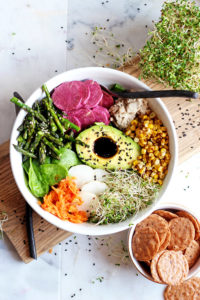 Summer Goddess Bowl - a healthy, nutrient-packed lunch or dinner - so healthy! thewoodenskillet.com
