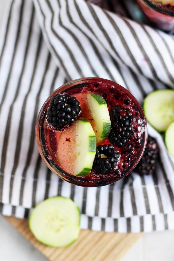 Blackberry Cucumber Gin and Tonic