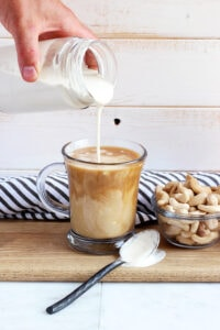 Cashew Coffee Creamer - an incredibly creamy and delicious addition to your morning coffee! - thewoodenskillet.com