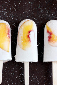 Vegan Peaches and Cream Popsicles - a quick and delicious summer treat!