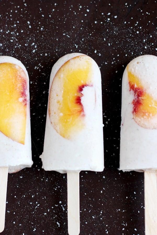 Vegan Peaches and Cream Popsicles