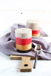 PB&J Chia Pudding - a quick and easy snack or breakfast that is healthy and delicious! thewoodenskillet.com