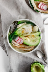 Asian-Inspired Leftover Turkey Soup - a light and delicious winter soup that is #Whole30 compliant! Perfect for leftover Thanksgiving turkey!