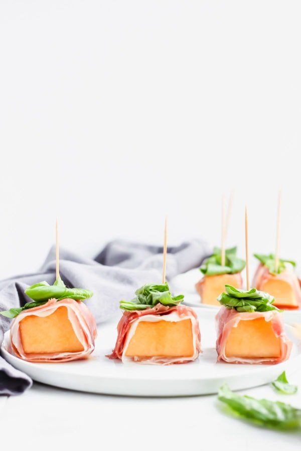 Prosciutto-Wrapped Melon with Basil
