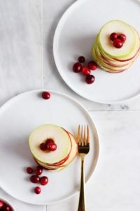Winter Stacked Salad with Fennel and Pear - a quick, easy and delicious holiday salad that will elevate your next holiday meal! thewoodenskillet.com