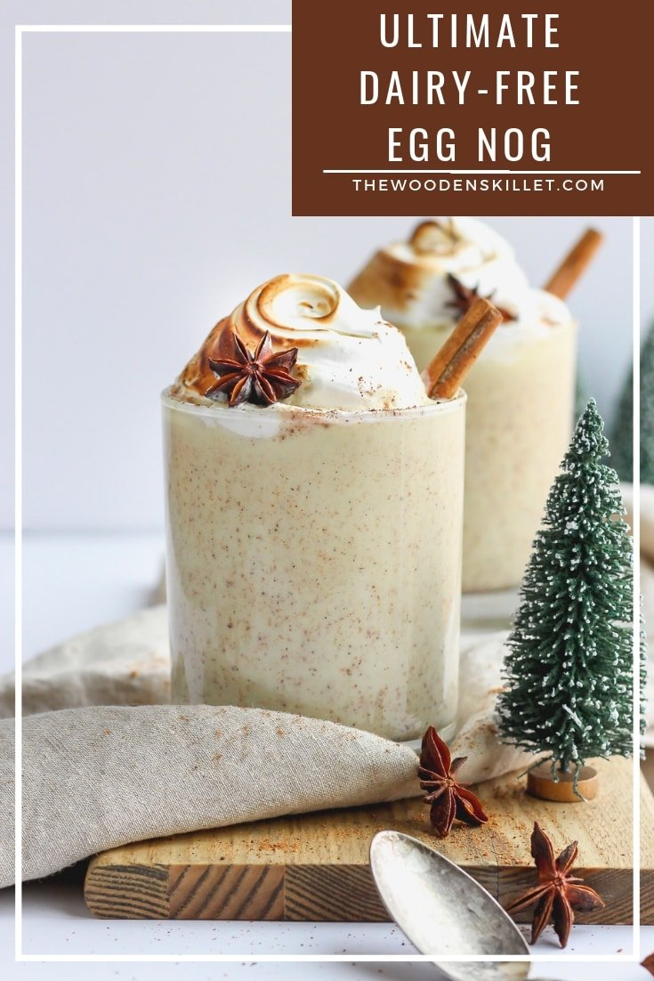 The Ultimate Dairy-Free Egg Nog! so rich and creamy - tastes just like the real thing, but without any dairy!! #holidayrecipes #holiday #christmas #dairyfree #eggnog