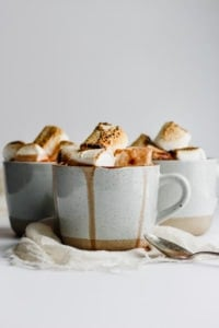 Extra Creamy Dairy Free Hot Chocolate - a simple and delicious hot chocolate recipe that is dairy-free!!