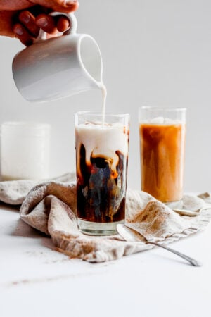 Dairy Free Vanilla Cinnamon Coffee Creamer- the perfect addition to your morning cup of joe! #dairyfree #whole30