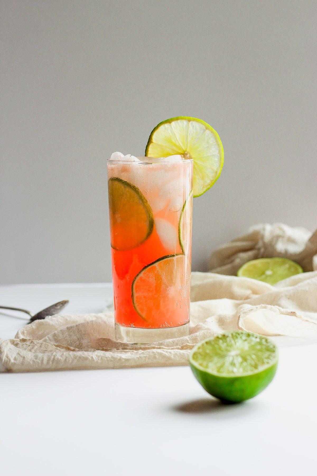 Refreshing Guava Lime Kombucha Mocktai