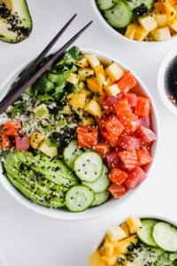 Epic Whole30 Sushi Bowl - the perfect date night dinner! #whole30 #paleo