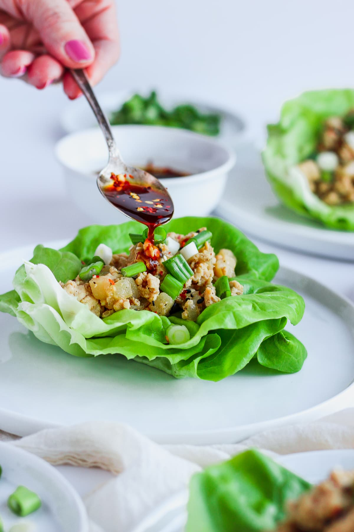 Weeknight Chicken Lettuce Wraps