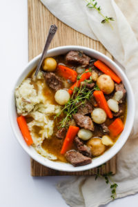 Comforting Irish Beef Stew - a classic Irish meal that is perfect on St. Patrick's Day or any day! #stpatricksday #irishstew #whole30