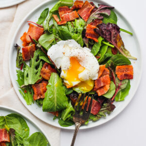 Whole30 Breakfast Salad with Soft-Boiled Egg - a satisfying and delicious spin on your breakfast! #whole30 #paleo