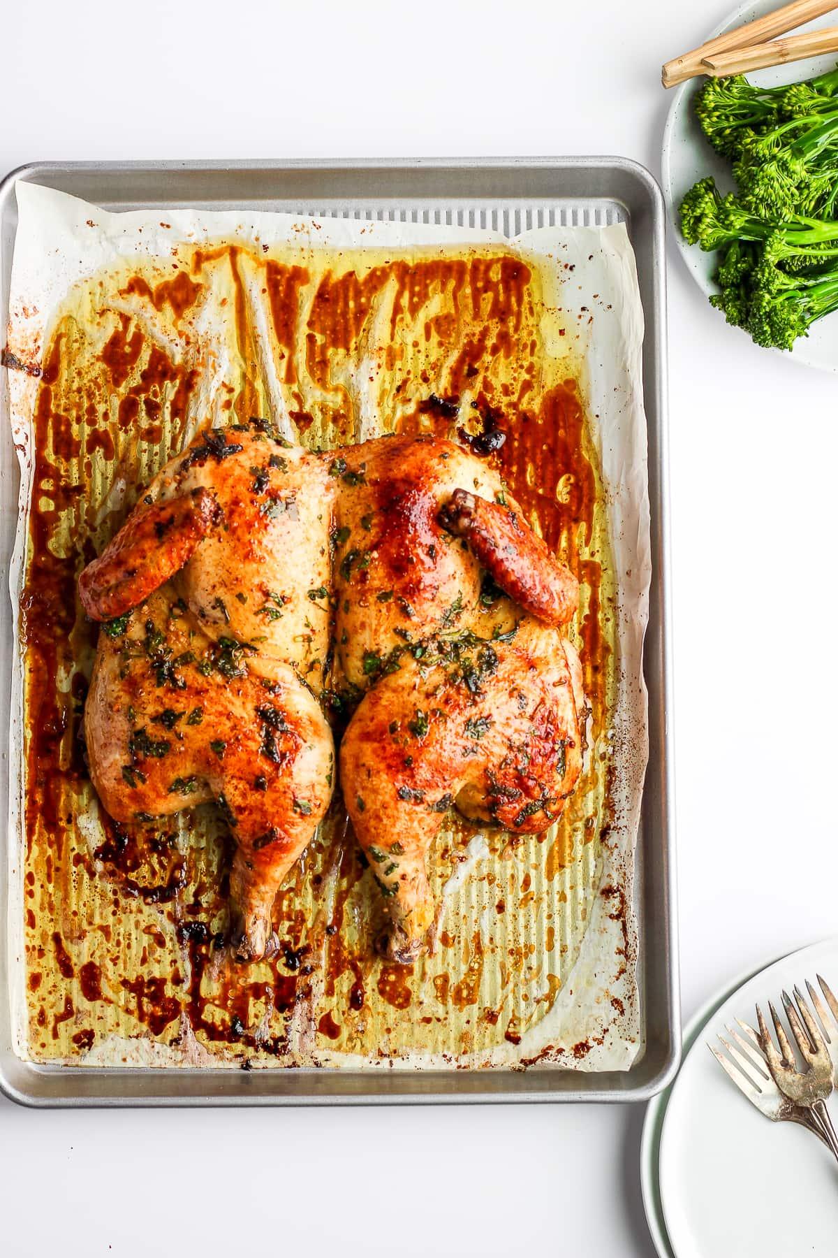 Sunday Dinner Butterflied Chicken