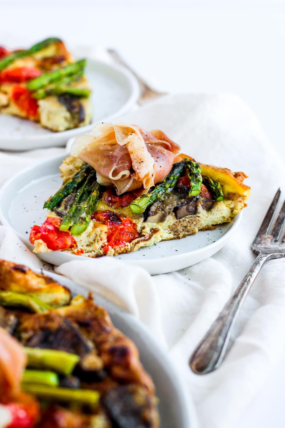 Creamy Prosciutto and Asparagus Frittata