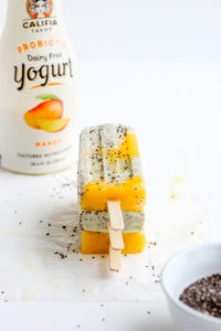 Dreamy Mango Banana Chia Pudding Pops - a sweet and refreshing summer treat! #plantbased #dessert