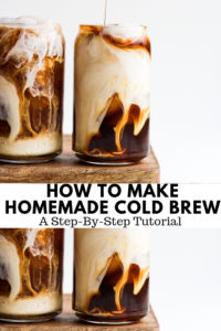 How to Make Cold Brew - a simple tutorial on how you can make cold brew at home! #coldbrew #coffee #homemadecoldbrew #canyoumakecoldbrew #howtomakecoldbrew #coldbrewcoffee #pourshot