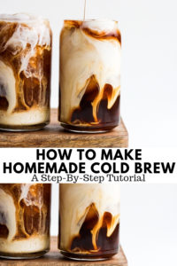 How to Make Cold Brew - a simple tutorial on how you can make cold brew at home! #coldbrew #coffee #howtomakecoldbrew #coldbrewcoffee #homemadecoldbrew