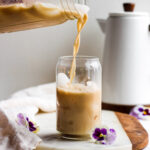 Iced Cold Brew Bulletproof Coffee - how to make bulletproof coffee with cold brew! #bulletrpoof #whole30