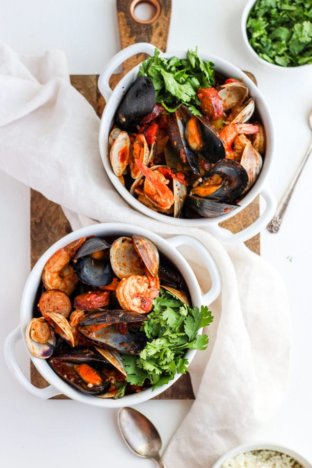 Seafood and Chorizo Wannabe Paella