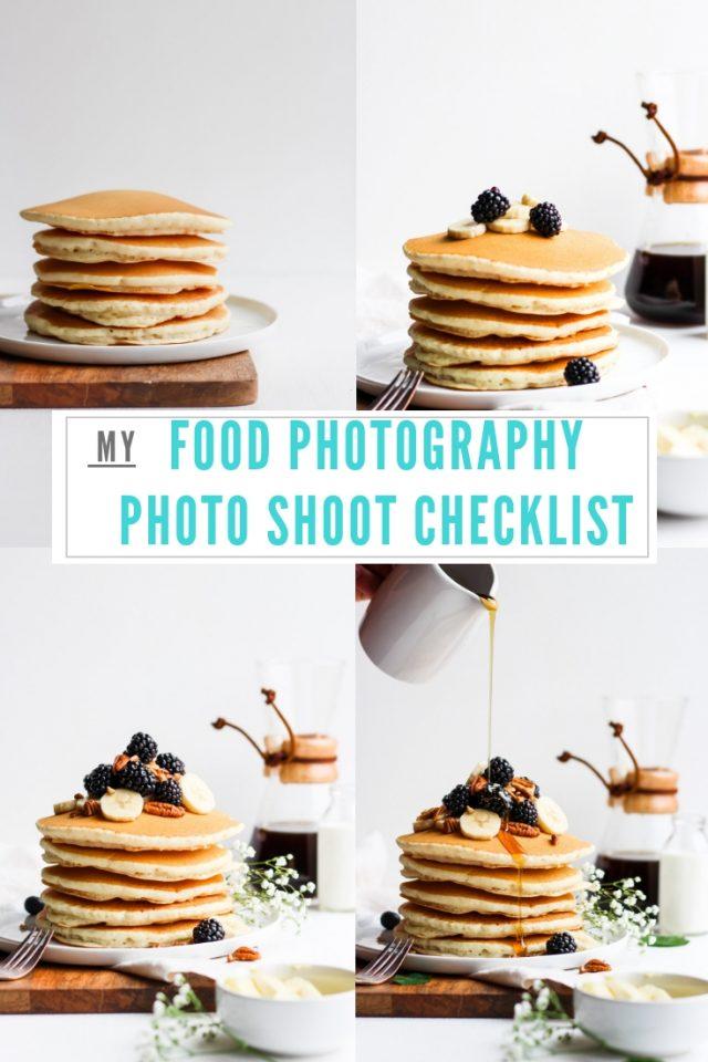 My Food Photography Photo Shoot Checklist