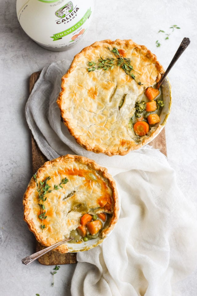 Creamy Fall Harvest Dairy-Free Veggie Pot Pies