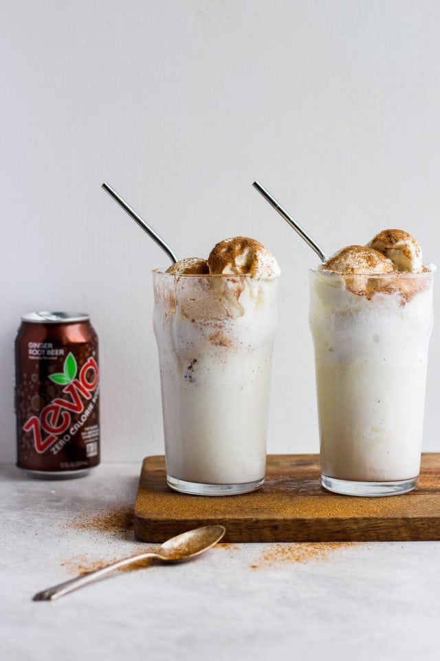Dairy Free Pumpkin Ginger Root Beer Float