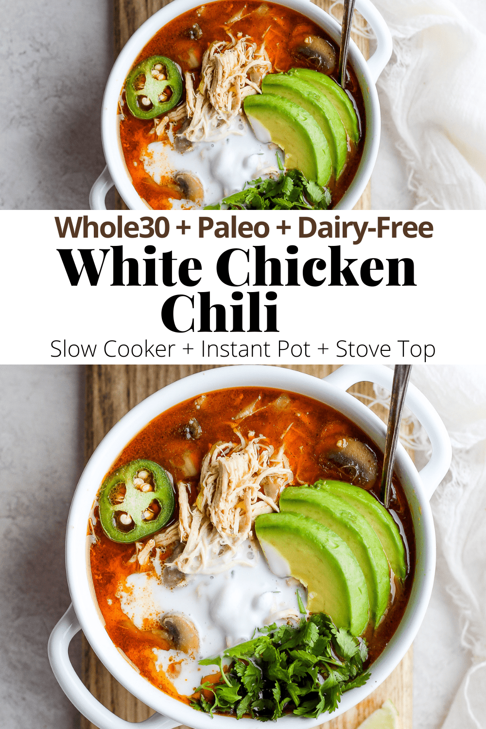 Creamy Slow Cooker White Chicken Chili The Wooden Skillet