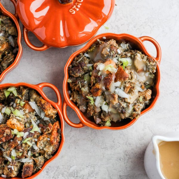 How to Make Giblet Stuffing - how to make this classic Thanksgiving stuffing!! Dairy-free and gluten-free friendly! #thanksgiving #stuffing #dairyfree #glutenfree