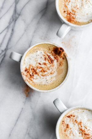 Dairy-Free Pumpkin Pie Spice Latte - a healthier version of your classic pumpkin spice latte! #paleo #dairyfree #pumpkinspice #coffee