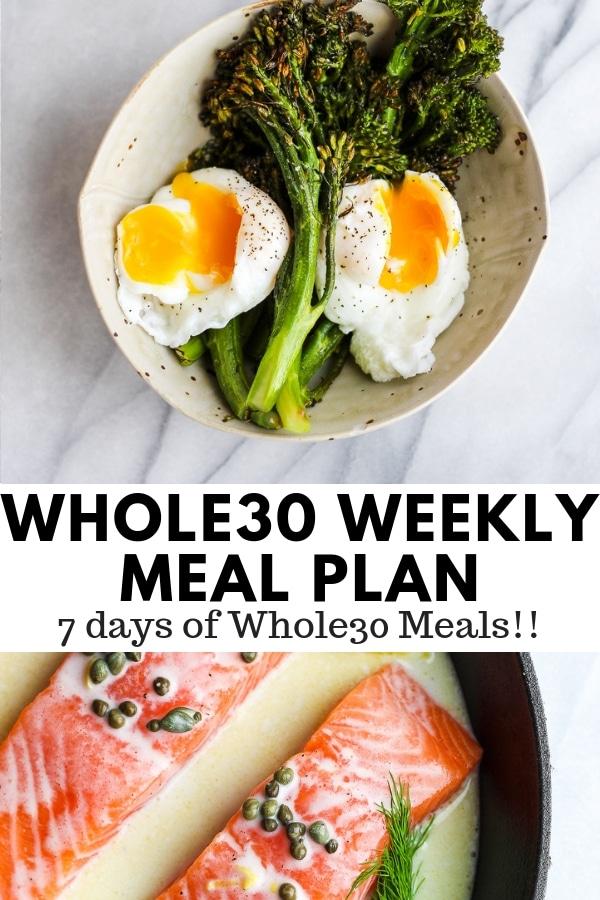 Whole30 Weekly Menu Plan